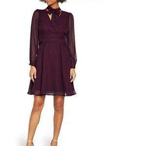 NWT ModCloth Swiss Dot Long Sleeve A-Line Dress 8